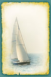 Fond de vintage avec la voile illustration stock