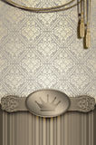Fond de vintage avec le cadre et l'ornement décoratifs Photos libres de droits