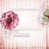 Fond de vintage avec le cadre et les fleurs Image libre de droits
