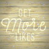 Fond de vintage avec le slogan pour le réseau social Photographie stock libre de droits