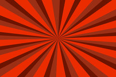 Fond de vintage avec les rayures rouges, conception de soleil Images stock