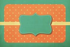 Fond de vintage, style de point de polka Photos stock