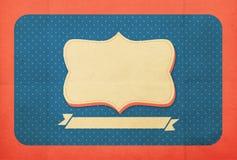 Fond de vintage, style de point de polka Images libres de droits