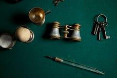 Fond de vintage vert-foncé Photographie stock libre de droits