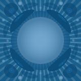 Fond de vinyle dans des couleurs bleues Images stock