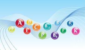Fond de vitamines Image libre de droits