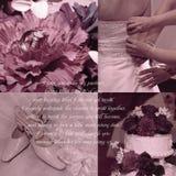 Fond de voeux de mariage Images stock