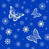 Fond de voler de papillons Images libres de droits