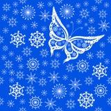 Fond de voler de papillons Image libre de droits