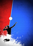 Fond de volleyball Photographie stock