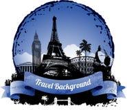Fond de voyage Images libres de droits