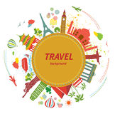 Fond de voyage. Photo stock