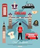 Fond de voyage de l'Angleterre avec l'endroit pour le texte positionnement Photo libre de droits