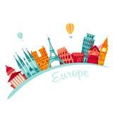 Fond de voyage de l'Europe illustration stock