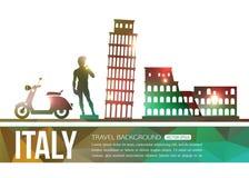 Fond de voyage de l'Italie avec l'endroit pour le texte Photo libre de droits