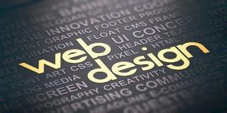 Fond de web design Concept de communication visuelle Illustration de Vecteur