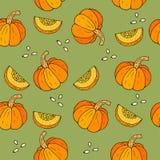 Fond de WebSeamless Halloween avec des potirons illustration stock