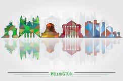 Fond de Wellington City de vecteur Photos stock