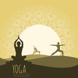 Fond de yoga Photos libres de droits