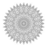 Fond de Zentangle, papier peint, texture, modèle Mandala rond, calibre pour le web design, cartes postales, insecte, affiche illustration stock