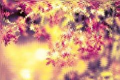 Fond defocused brillant d'or de résumé Fond rougeoyant avec le style de bokeh pour des salutations saisonnières photographie stock