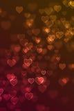 Fond defocused brouillé de signe de coeur d'amour Photographie stock libre de droits
