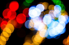 Fond defocused coloré de lumières Lumières abstraites de bokeh Photographie stock libre de droits