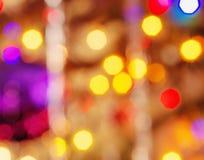 Fond Defocused de lumières de Noël Image libre de droits