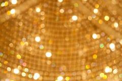 Fond Defocused de lumières de réveillon de Noël image libre de droits