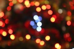Fond defocused de lumières de Noël image stock