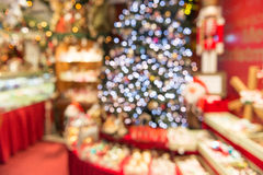 Fond defocused de Noël, arbre de Noël Photographie stock