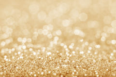 Fond defocused de scintillement d'or Photo stock