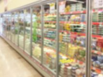 Fond Defocused de supermarché photos libres de droits