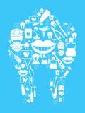 fond dentaire illustration de vecteur