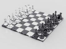 fond des échecs 3D Images libres de droits