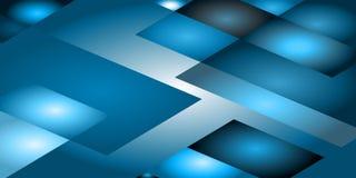Fond des éléments géométriques dans bleu et bleu Images libres de droits