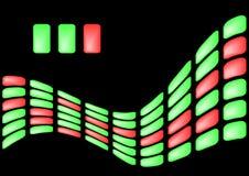 Fond des éléments vert clair et rouges Photos libres de droits