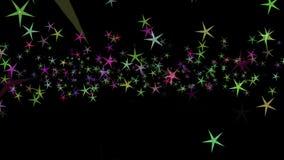 Fond des étoiles multicolores Configuration abstraite de fond illustration stock