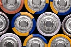 Fond des batteries de doigt G Image libre de droits