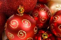 Fond des billes de Noël Photos libres de droits