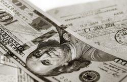 Fond des billets d'un dollar Image libre de droits