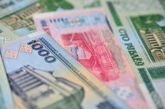 Fond des billets de banque biélorusses Photographie stock