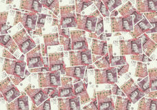 Fond des billets de banque de 50 livre sterling, concept financier Économie de riches de succès de concept Photo libre de droits