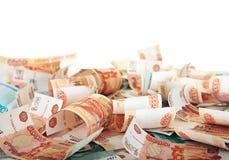 Fond des billets de banque russes images stock