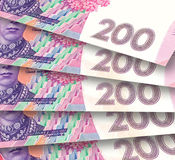 Fond des billets de banque ukrainiens Photo stock