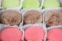 Fond des biscuits colorés, comme un mur doux Photographie stock libre de droits
