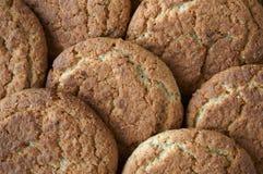 Fond des biscuits de farine d'avoine Photographie stock libre de droits