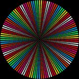 Fond des boules colorées sur un noir illustration libre de droits