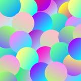 Fond des boules multicolores de gradient illustration libre de droits