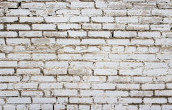 Fond des briques blanches Images libres de droits